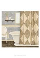 "Patterned Bath I by Megan Meagher - 13"" x 19"" - $12.99"