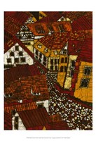 Red Roofs II Fine Art Print