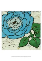 "Aqau Batik Botanical III by Andrea Davis - 13"" x 19"" - $12.99"