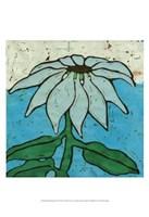 Aqua Batik Botanical VI Fine Art Print