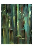 Turquoise Bamboo II Framed Print