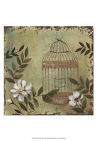 "Decorative Bird Cage I by Jade Reynolds - 13"" x 19"""