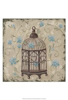 "Decorative Bird Cage II by Jade Reynolds - 13"" x 19"""