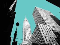 New York on Blue Fine Art Print