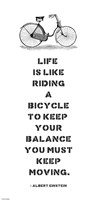 A. Einstein Bicycle Quote Fine Art Print