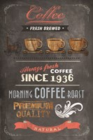Coffee Menu II by Drako Fontaine - various sizes