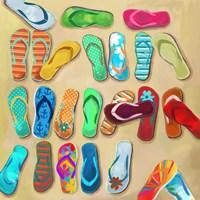 Flip Flops I Fine Art Print