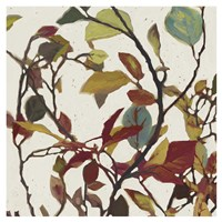 Bordeaux Leaves II - Mini Fine Art Print