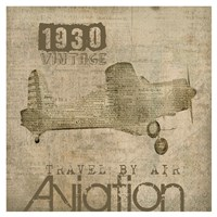 Aviation I - Mini Fine Art Print