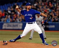 R.A. Dickey 2013 Action Fine Art Print