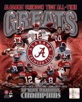 University of Alabama Crimson Tide All Time Greats Composite Fine Art Print