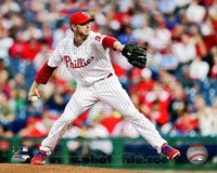 Roy Halladay Baseball Action Fine Art Print