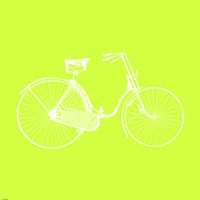 Lime Bicycle Fine Art Print