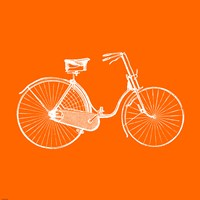 Orange Bicycle Fine Art Print