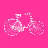 Pink Bicycle Fine Art Print