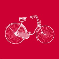 Red Bicycle by Veruca Salt - various sizes, FulcrumGallery.com brand
