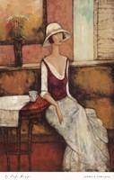 Le Caf Rouge Fine Art Print