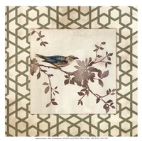 "Audubon Tile II - Mini by Asia Jensen - 13"" x 13"""