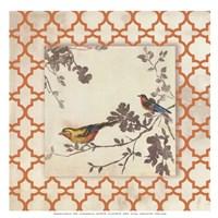 Audubon Tile IV - Mini Fine Art Print