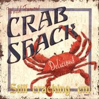 "Crab Shack by Debbie DeWitt - 12"" x 12"", FulcrumGallery.com brand"