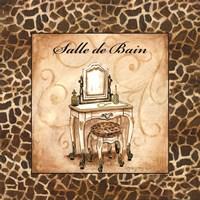 "Giraffe Salle de Bain by Gregory Gorham - 12"" x 12"" - $9.99"