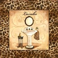 Giraffe Lavabo Framed Print