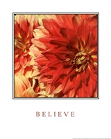 Believe Flowers Fine Art Print