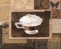 Vintage Eiskaffee - mini Fine Art Print