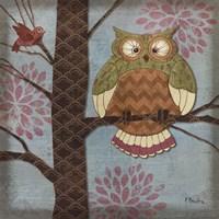 Fantasy Owls I Fine Art Print