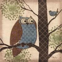 Fantasy Owls II Fine Art Print