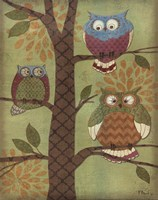 Fantasy Owls Vertical I Fine Art Print