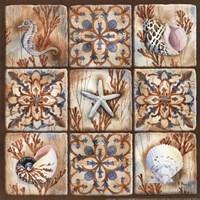 "Sea Isle Collage I - mini by Paul Brent - 12"" x 12"""
