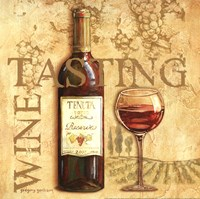 "Wine Tasting Square by Gregory Gorham - 12"" x 12"""