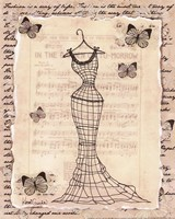 Wire Dress I - mini Fine Art Print