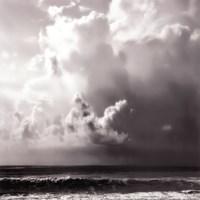 Ocean Storm II Sq. BW Fine Art Print