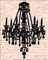 Chandelier Calligraphy II - mini Fine Art Print
