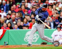 Ben Zobrist Batting 2013 Fine Art Print