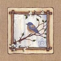 "Bluebird by Lisa Kennedy - 12"" x 12"", FulcrumGallery.com brand"