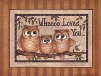 Whoooo Loves You Fine Art Print
