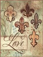 """Love Fleur de Lys by Mollie B. - 12"""" x 16"""""""