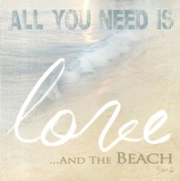 Love And The Beach Framed Print