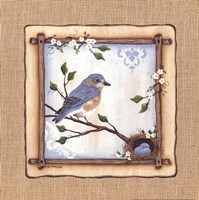 "Bluebird Nest by Lisa Kennedy - 12"" x 12"", FulcrumGallery.com brand"