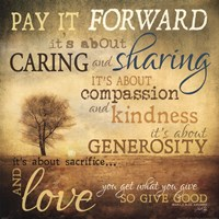 Meaning of Pay It Forward Fine Art Print