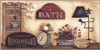 Country Bath - Fresh Towels Fine Art Print