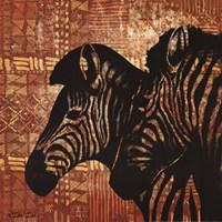 """Patterned Zebras by Dee Dee - 12"""" x 12"""""""
