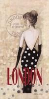 """London Lady by Dee Dee - 9"""" x 18"""""""