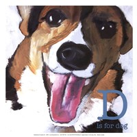 D is for Dog-Mini Fine Art Print