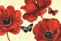 """Petals and Wings on Beige I by Daphne Brissonnet - 36"""" x 24"""""""