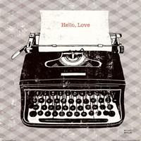 Vintage Analog Typewriter Fine Art Print