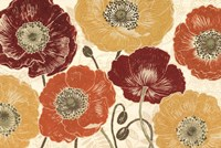 """A Poppy's Touch I Spice by Daphne Brissonnet - 36"""" x 24"""""""